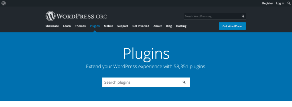 The plugins page on the WordPress.org site