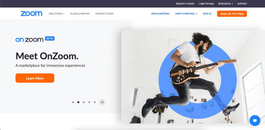The Zoom website was designed with WordPress