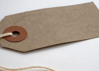 A blank tag.